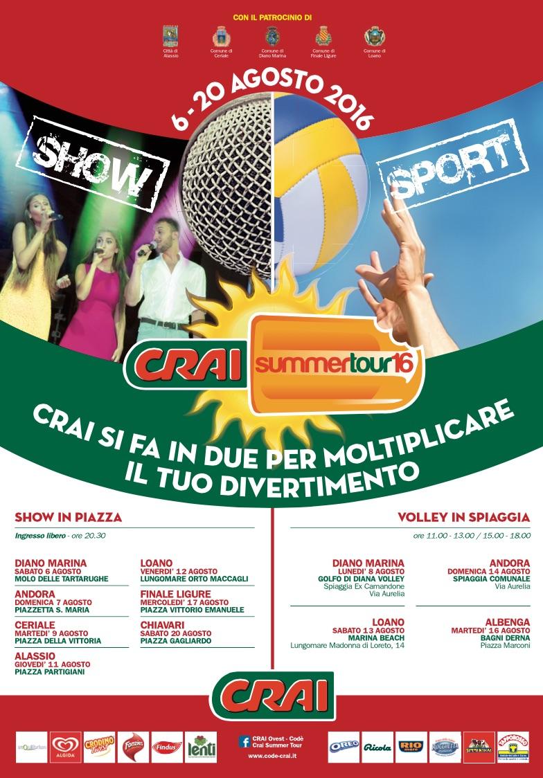 SUMMER TOUR: CON CRAI, ALTRI 12 BRAND ALLA CONQUISTA DELLA LIGURIA
